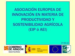 La Asociación Europea de Innovación y los grupos operativos para