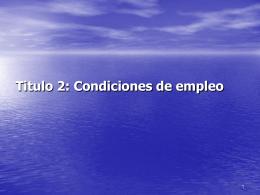 Condiciones de empleo