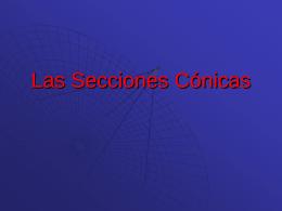 Las cónicas - INBACEspacioMatematico