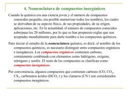 4. Nomenclatura de compuestos inorgánicos