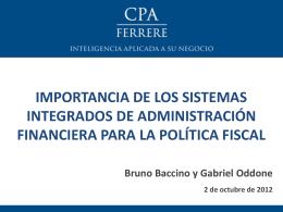 La visión de las consultoras privadas. CPA Ferrere. Ec. Gabriel