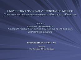 universidad nacional autonóma de méxico coordinación de