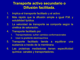 Transporte de membrana b