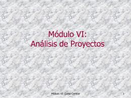 Análisis de Proyectos