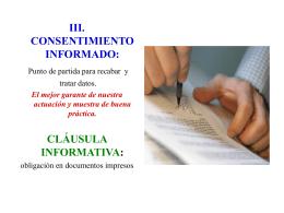 iii. consentimiento informado