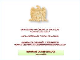 AVANCES DEL MODELO ACADÉMICO UNIVERSIDAD