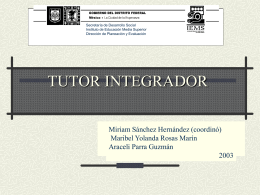 TUTOR INTEGRADOR - Programa Galatea