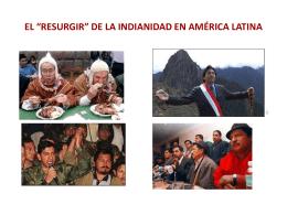 """EL """"RESURGIR"""" DE LA INDIANIDAD EN AMÉRICA LATINA"""