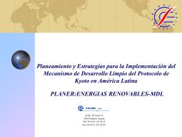 Planeamiento y Estrategias para la Implementación del MDL en
