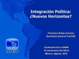 Integración Política de América Latina y el Caribe