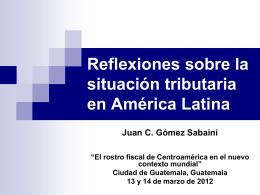 Actualidad y perspectivas tributarias en américa latina