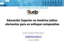 Educación Superior en América Latina: elementos para un enfoque