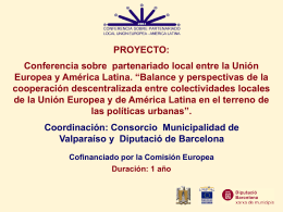 Conferencia sobre partenariado local entre la Unión Europea