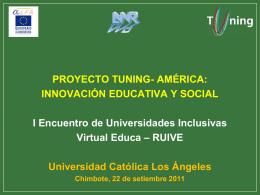 Qué es TUNING – América Latina?