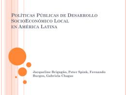 Políticas Públicas de Desarrollo SocioEconómico Local en América