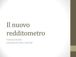 redditometro - Università di Urbino