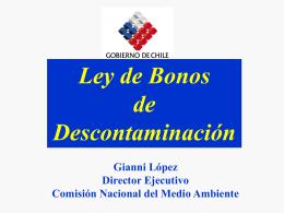 Ver documento de apoyo Sr. Gianni López (Conama)
