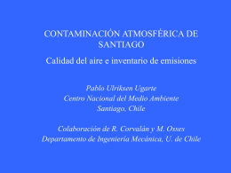 contaminación atmosférica de santiago