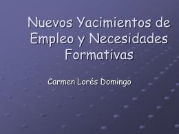 Yacimientos de empleo y necesidades formativas