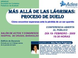 Conferencia procesos de duelo