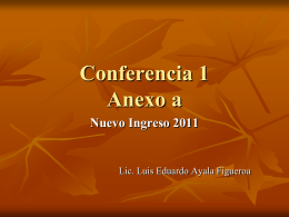 Conferencia 1 anexo a - Facultad de Jurisprudencia y Ciencias