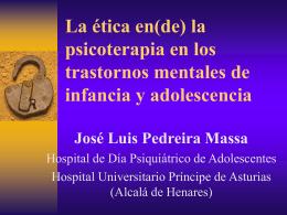 la psicoterapia en los trastornos mentales de infancia y adolescencia