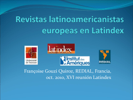 Informe Revistas Europeas