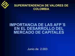 Importancia de las AFP`S en el desarrollo del Mercado de Capitales