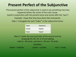 Present Perfect of the Subjunctive
