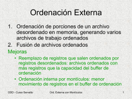 Ordenacion Externa