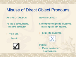 Misuse of Direct Object Pronouns