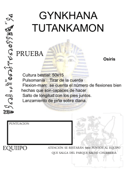 gynkhana tutankamon