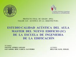 taller i-24 - acustica en la arquitectura