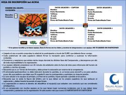 NOMBRE EQUIPO: - MexicaliSport