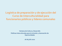 logistica capacitacion interculturalidad