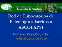 informe - ASCOFAPSI - Asociación Colombiana de Facultades de