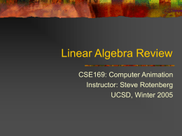 Linear Algebra Review - UCSD Computer Graphics Lab