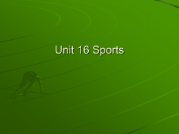 Unit 16 Sports