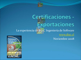 Disc, Ingeniería de Software