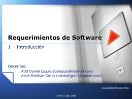Presentación - Carreras de Sistemas - UARG