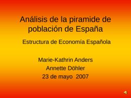 Análisis de la piramide de población de España