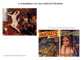L`orientalisme - Département d`histoire