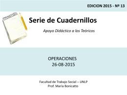 Operaciones - Facultad de Trabajo Social