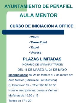 Iniciación a Office - Ayuntamiento de Peñafiel