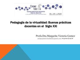 Pedagogía de la virtualidad: Buenas prácticas docentes en