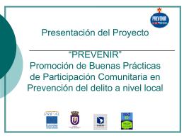 """Participación comunitaria en la gestión municipal de seguridad """"Los"""
