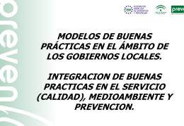 Modelo de Buenas Prácticas en el ámbito de los Gobiernos Locales