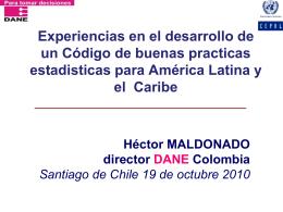 Héctor Maldonado - Buenas Prácticas