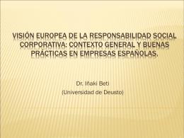 visión europea de la responsabilidad social corporativa