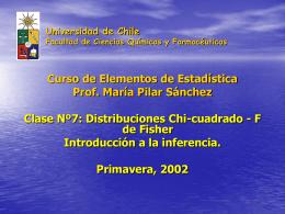 cl7bioestpreg - Departamento de Matemática Aplicada y